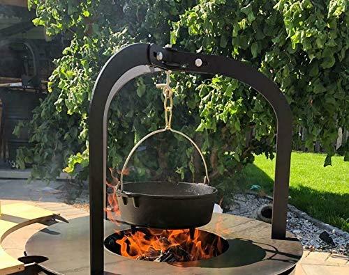 A. Weyck Tools Dutch Oven Dreibein Gestell für Feuerplatten, Feuertonnen Feuerschalen BBQ Grill