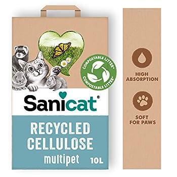 Sanicat Lit hygiénique Clean & Green Cellulose - 10 L