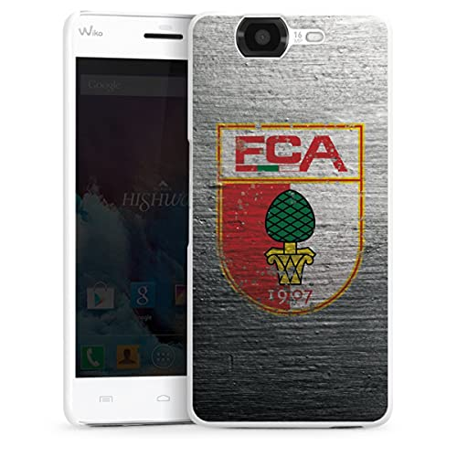 DeinDesign Hard Hülle kompatibel mit Wiko Highway Schutzhülle weiß Smartphone Backcover FC Augsburg Beton Offizielles Lizenzprodukt