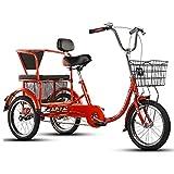 Triciclo For Adultos Con Cesta, 3 Ruedas Bicicletas De De 16 Pulgadas Del Crucero De La Bici, Tres...