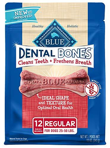 Blue Buffalo Dental Bones Natural Adult Dental Chew Dog Treats Regular 12oz bag