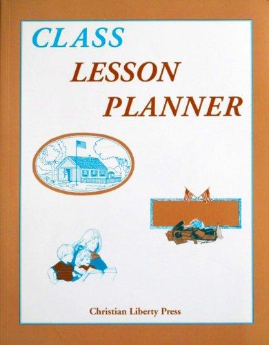 Class Lesson Planner Misc Homeschool