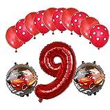 ENXI Globos Mcqueen Ellos 1 Set Autos Lightning 32 Pulgadas Números Balloon Set 13pcs / Set Movilización de automóviles Baby Boy Cumpleaños Fiesta de decoración Suministros ( Color : Light Green )
