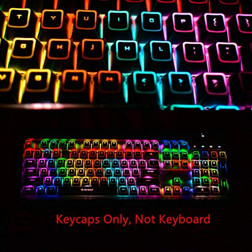 104 Keycaps ROG Backlit Keycap for Corsair K55 K63 K65 K68 K70 LUX RGB MK.2 K95 Platinum Strafe Mechanical Keyboards Gaming