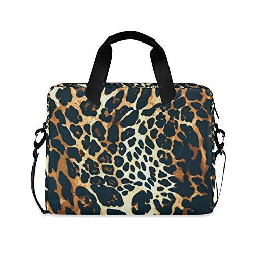 Leopard Pattern 16 inch Laptop Shoulder Bag Travel Laptop Briefcase Carrying Messenger Bags