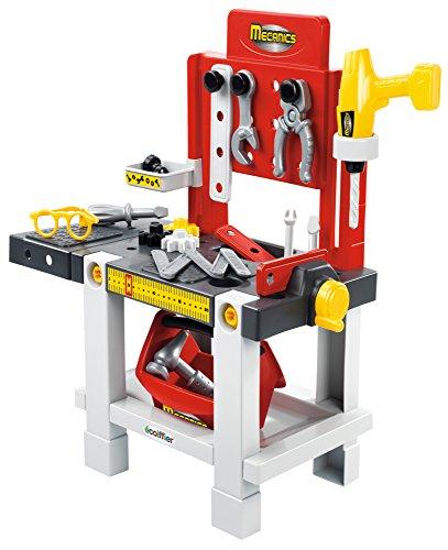 Jouets Ecoiffier – 2406 - Établi + outils pour enfants Mecanics – Jeu de bricolage – 23 pièces – Dès 18...