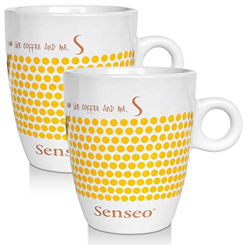 2 x Senseo Design Fussball EM Sonderedition gelb Porzellantasse Kaffeetasse 160 ml