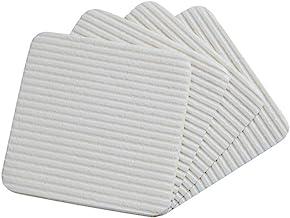 BESPORTBLE 4pcs Anti- Skid Carpet Stickers Self Adhesive Rug Stickers Non Slip Reusable Rug Pad Tape for Hardwood Floors T...