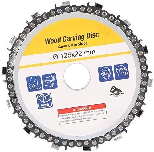 Disco de cadena de amoladora hojas de sierra circular 5 '14 dientes disco de cadena de amoladora angular piñón de carpintería 125x22mm