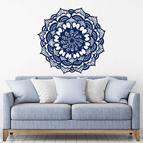Mandala calcomanías Yoga Studio pegatina bohemia decoración del hogar Boho pegatina dormitorio patrón marroquí Yoga Studio decoración A12 58x57cm