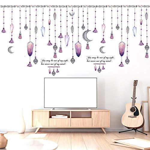 CWART Wandtattoos background wall sticker bedroom romantic fashion Cartoon Decals For Kids Diamantanhänger 60 * 90CM