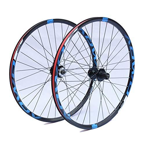 VHHV MTB Ruote 26 27,5 29 Pollici Bici, Lega Bicicletta Coppia Ruote Rilascio Rapido, Freno a Disco 8/9/10 velocità (Size : 29 Inches)