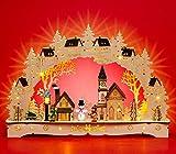 Sikora LB63 Arco de Luz de Navidad Iluminado de Madera - Pueblo Invernal