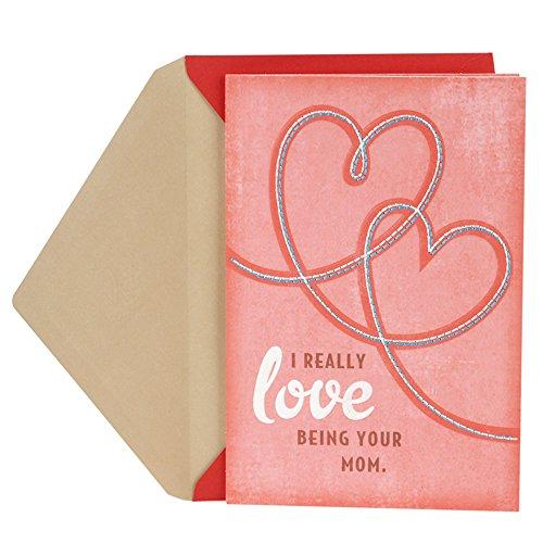 Hallmark Tarjeta de San Valentín para hijo o hija de mamá (corazones cosidos)