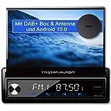Tristan Auron BT1D7027A Android 10 Autoradio + DAB Plus Box I 32GB ROM I 7'' Touchscreen I GPS Navi I Bluetooth Freisprecheinrichtung I USB SD OBD 2 I 1 DIN