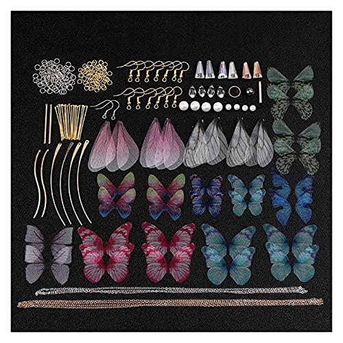 RJJX - Orecchini a forma di ala di cicada a forma di ala di libellula, fatti a mano, confezione grande, per la creazione di gioielli (colore: 1)