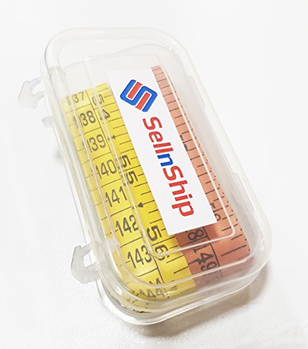 SellnShip Sewing Measuring Ruler Extra Heavy Durable Double Ink Coated Tailors Measurement Tape (MultiColor Pack of 2)