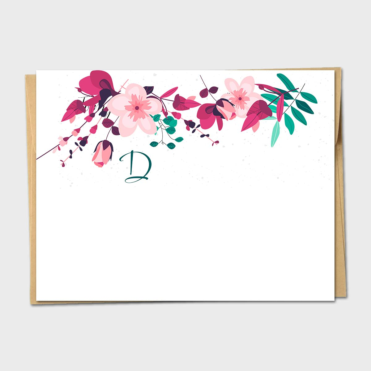 Cherry Bargain OFFicial store Blossom Spray Floral - Note Card Personalized