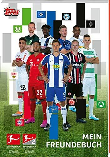 Das offizielle Fußball Bundesliga Freundebuch von topps: Mit Club Logo Stickers und Bundesliga Rätsel. Platz für 25 Freunde plus Geburtstagsübersicht
