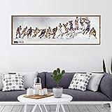 ganlanshu Cartel de Baloncesto decoración Moderna para el hogar impresión Pintura Jugador de Baloncesto apartamento Sala Lienzo Arte de la Pared,Pintura sin Marco,30x90cm
