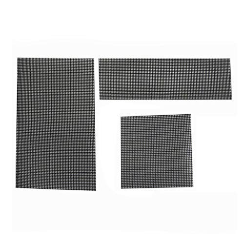 SUREH 15 Stück Blumentopfloch-Netz-Matte Boden Gitter Matte Polyethylen Drainage Netz für Bonsai verhindern Bodenverlust Anti-Korrosion Atmungsaktive Dichtung DREI Größen