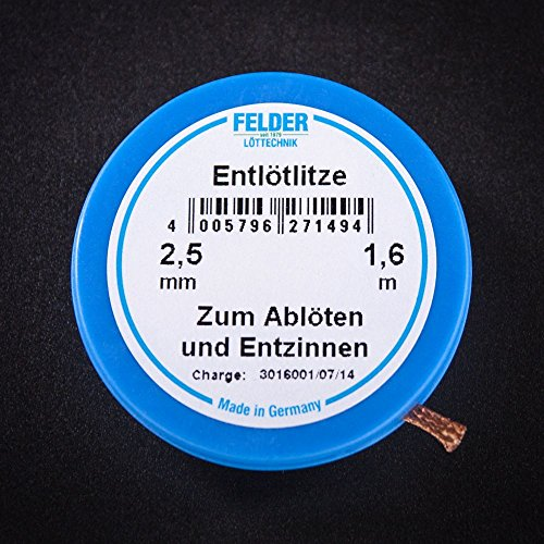 Felder Löttechnik Entlötlitze FELDER, 2,50mm, mit halogenfreiem...