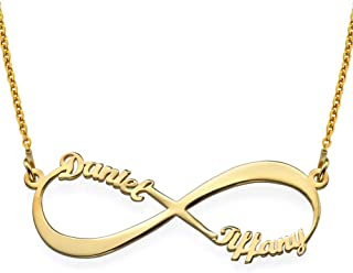 Personalized Infinity Couples Name Necklace-Precious...