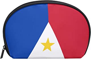 Philippine Flag Proud Womens Half Moon Cosmetic Bag Makeup Pouch Shell Toiletry Kits