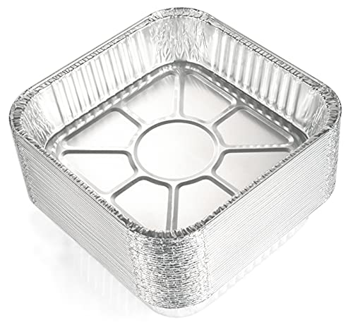 8x8 Aluminum Pans (30 Pack) - Disposable 8 Inch Square Foil Baking Pans. Durable Standard-Size Tins for Cakes, Brownies and Casseroles