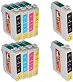 Start - T0715 Cartouche d'encre Compatible pour Epson T0711 T0712 T0713 T0714 aussi Epson DX7450 DX8450 (4 Noir,2 Cyan,2 Magenta,2 Jaune)