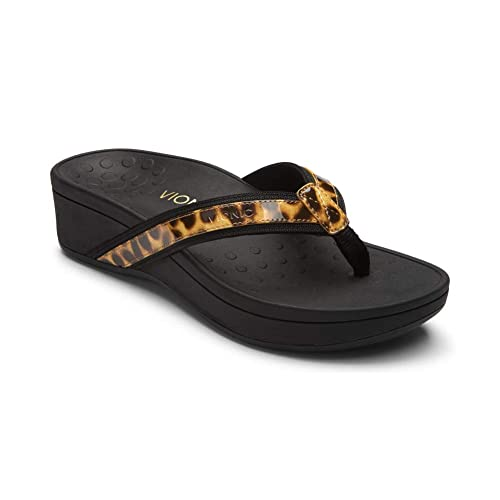 a34836e43225 Vionic Women s Pacific High Tide Toepost Sandals – Ladies Platform Flip  Flops with Orthotic Arch Support