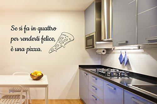 Adesivo per parete Pizza - Emmeciquadro