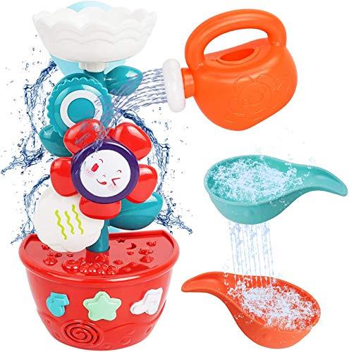 MOZOOSON Wasser Spielzeug für Baby Kinder ab 1 Jahr Badespielzeug als Geschenk für Geburtstag Blumen...