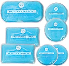 Reusable Hot and Cold Gel Ice Packs for Injuries   Cold Compress, Ice Pack, Gel Ice Packs, Cold Pack, Gel ice Pack, Cold Packs for Injuries   7 Pack