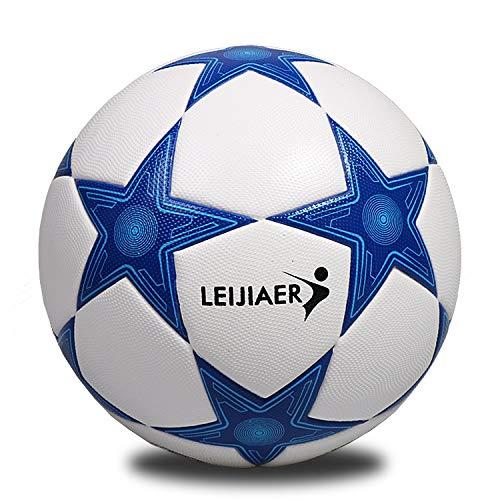 Zuqiudashi Genuino TPU fútbol número 5 fútbol Azul línea Cinco Esquinas fútbol Entrenamiento Partido fútbol devanado Pelota