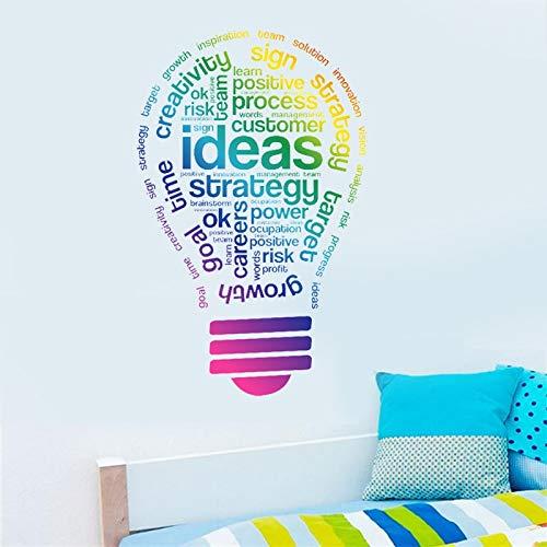 QTTZWZQ creatieve ideeën muur Stickers Kleurrijke lamp patronen Home Decor Team Sticker Kids slaapkamer Studie kamer werk decoratie