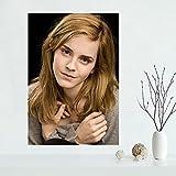 Yiwuyishi Lienzo Personalizado Decoración de Pared Emma Watson Cartel Colorido Carteles de Pared e Impresiones Decoración para el hogar Pintura Colección de fanáticos 50x70cm P-968