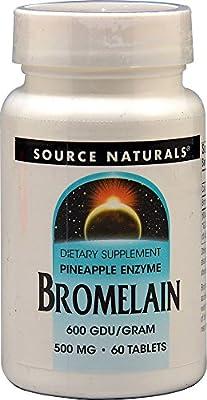 Bromelain 500mg Source Naturals, Inc. 60 Tabs
