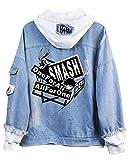 Cosstars My Hero Academia Anime Hoodie Jeansjacke Unisex Cosplay Denim Jacket Outwear Mäntel 6 S