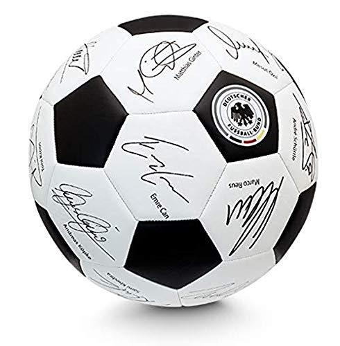 DFB Unisex– Erwachsene Lizenz Unerschriften Fußball Signierter, schwarz, weiß, 5