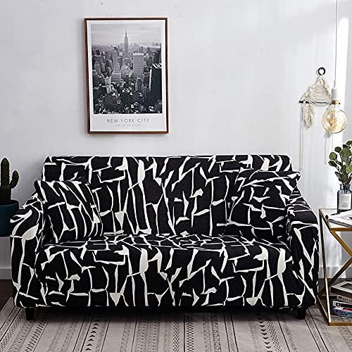 ASCV Funda de sofá elástica para Sala de Estar, Toalla de sofá, Funda de sofá Antideslizante para Mascotas, Juego de Fundas de sofá Strench A4 2 plazas