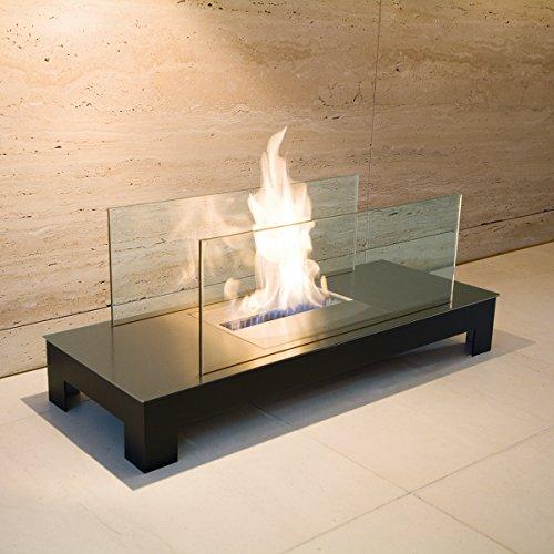 Feuerstelle FLOOR FLAME schwarz / Edelstahl matt - (537 A)