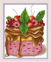 クロスステッチ 大人のためのクロスステッチキット チョコケーキ 40x50cm 11CT番号別刺繍キット手作りキットパンチ針刺繍DIY初心者向け手作りスターターキット