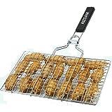AIZOAM 魚、野菜、ステーキ、エビ、チョップや他 多く 食品.greatと便利なバーベキューツール ポータブルステンレス鋼 バーベキューバーベキューグリルバスケット