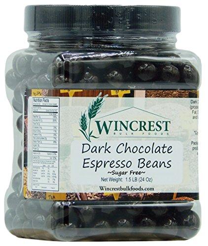 Chocolate Espresso Beans - 24 Oz Tub (Sugar Free Dark Chocolate)