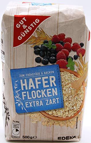 Gut und Günstig Haferflocken extra zart, 15er Pack (15 x 500g)