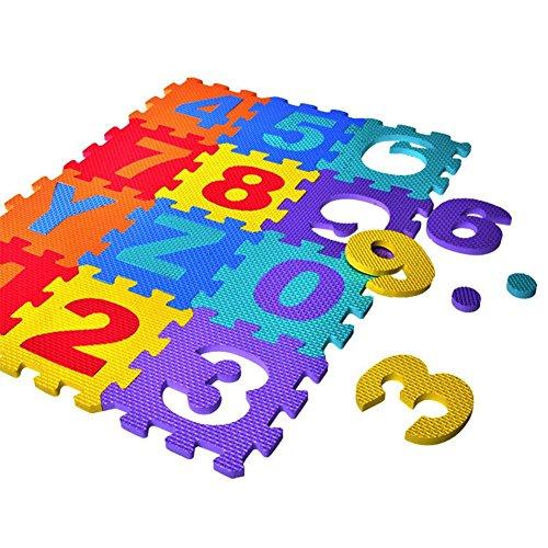Supertop 36 Piezas Pop Out Puzzle Mat Bebé Interlocking Soft Foam Floor Mats Baldosas para el Suelo Juego para Niños Mat Mat Baby Crawling Mats con Números de Alfabetos