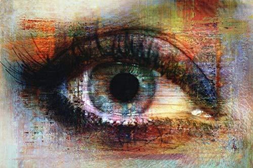 Abstrakte Augen Textur Leinwand Malerei Graffiti Kunst Poster und Drucke Street Art Leinwand Bilder Augenkünstler Home Wand rahmenlose dekorative Malerei A66 60x90cm