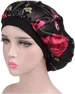 Satin Bonnet-Premium, Satin Sleep Cap with Wide Elastic Band,1-Pack Salon Bonnet Scarfs, Soft Day and Night Cap for Hair