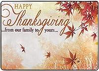幸せな感謝祭のホリデーエリアの敷物、リビングダイニングルームの寝室のキッチン、5'X7'の保育園の敷物の床のカーペットのヨガマットのための紅葉の敷物
